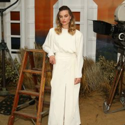Margot Robbie Swaps Chanel For Derek Lam At Photocall With Brad Pitt & Leonardo DiCaprio