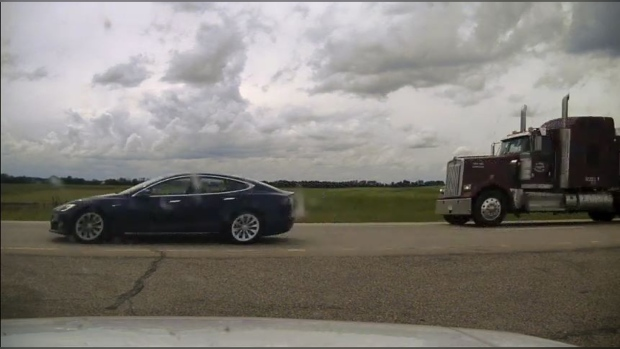 Sleeping, speeding Tesla driver charged with dangerous driving: RCMP – CTV News Edmonton